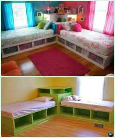 diy kids bunk bed  plans corner beds unit