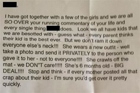 mother shares vicious anonymous poison  letter accusing