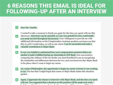 calling back after interview the perfect interview follow up letter business insider