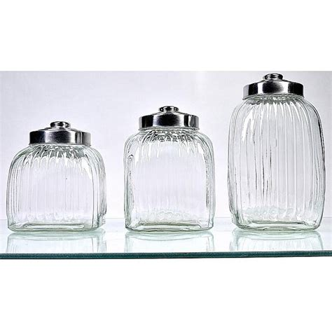 clear glass kitchen canisters square glass canisters pack of 3 free shipping on