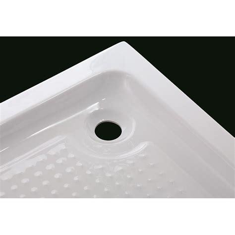 receveur de douche acrylique rectangulaire robinet