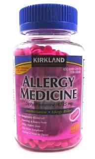 Kirkland Allergy Medicine Diphenhydramine