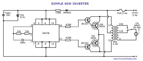 Transistor Inverter Diagram Circuit Images