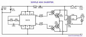 Free Wiring Diagram  Simple Inverter Circuit Diagram