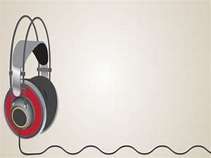 listening music powerpoint templates music red free With ppt music templates free download