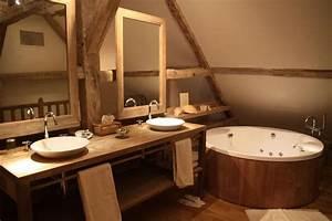 Photo salle de bains et bois deco photo decofr for Salle de bain design avec décoration de table exotique