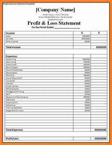 Profit And Loss Statement For Self Employed  Download Simple Profit And Loss Template For Self