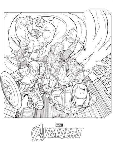 marvel avengers coloring page  printable coloring pages