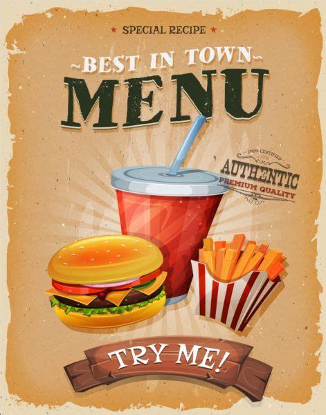 affiche vintage cuisine vintage fast food poster design vector 10 gooloc