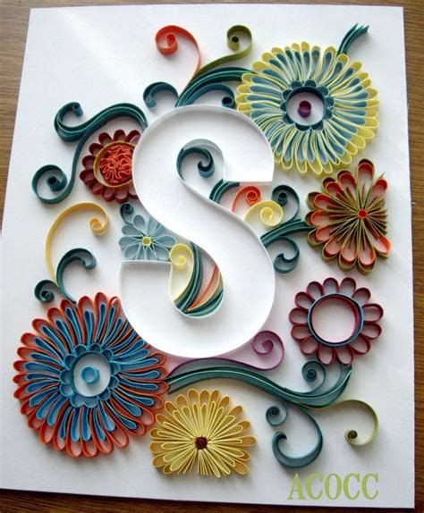 images  quilled letters numbers  pinterest
