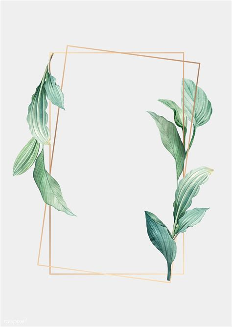 Download premium vector of Gold frame decorated with hand ...