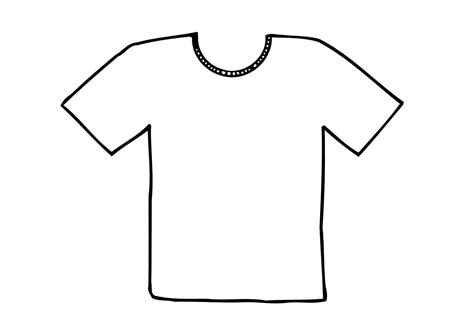 t shirt template colouring pages clip library