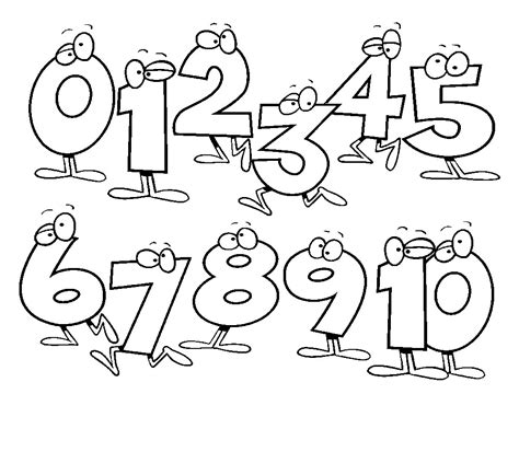 numbers coloring pages free printable number coloring pages for