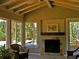 Portfolio pcs construction inc for Sunroom with fireplace