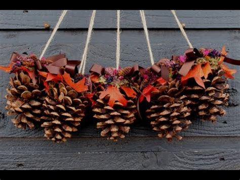 diy christmas decoration ideas  recycling pine cones
