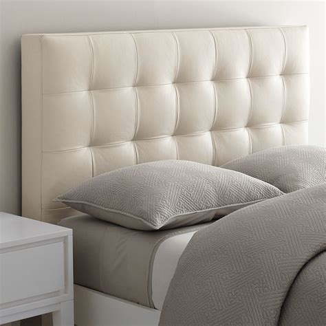 White Leather Tufted Headboard King by Gridtufted Headboard Elephant Leather Tufted