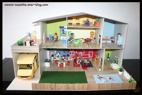 maison playmobil fait en cartonnage playmobil house lego and mansions