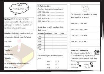 queensland year 2 homework for unit 5 maths yr 2