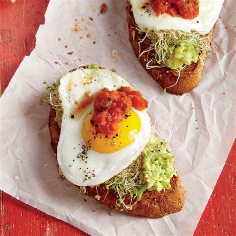 Fried Egg And Avocado Toasts Recipe Myrecipes