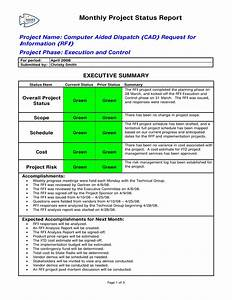Monthly Project Progress Report Template 9 Status Report Examples Doc Pdf Examples