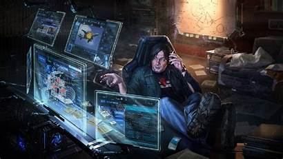 Cyberpunk Computer Futuristic Geek Clipart Jacket Dark