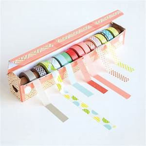 Easy DIY Washi Tape Dispenser Project From Washi Tape