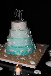 Aquarium Themed Wedding Cake - CakeCentral com