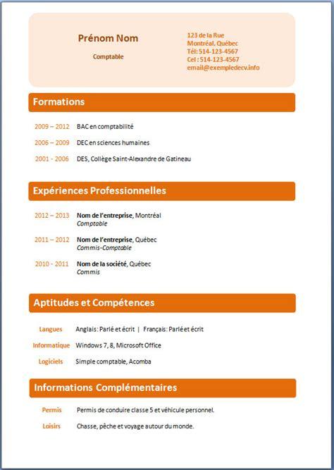 Matrice Cv by Telecharger Cv Mod 232 Le Pr 233 Sentation Cv Psco