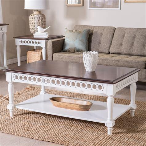 White Living Room Table Ls by Belham Living Jocelyn Coffee Table White Walnut Coffee