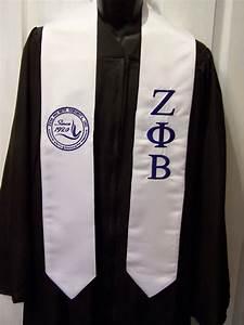 zeta phi beta royal blue or white dove shield satin With greek letter stoles