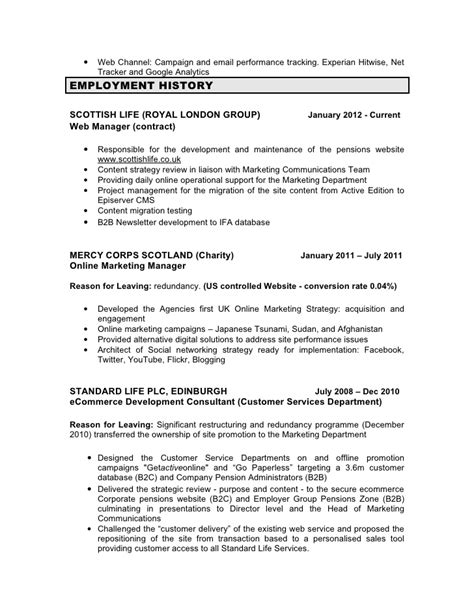 Contracts Manager Resume by Cv Stephen Cullen