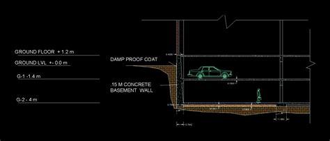 retaining wall  autocad  cad   kb