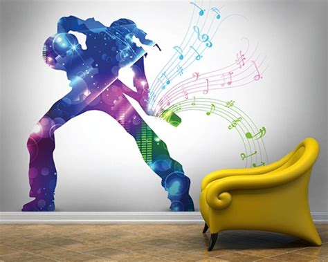 Wall Murals Rock And Roll by Change From Dull To Dashing Wall Mural Ideas For Rooms