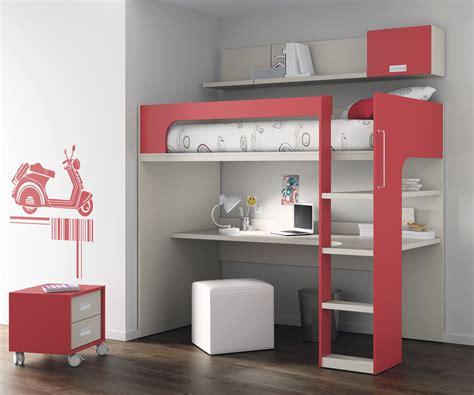 lit et bureau lit mezzanine avec bureau pour enfant mixte touch 69