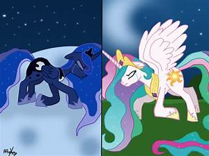 MLP Princess Luna and Princess Celestia by MiesDo on ...