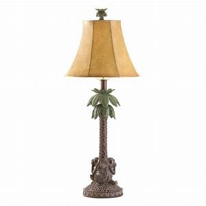 Koehler home decor gift accent tropical palm tree lamp ebay for Tree floor lamp uk