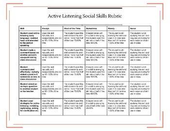 class social skills rubric bundle   educating slp