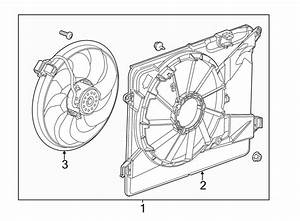 Buick Encore Engine Cooling Fan Assembly  Radiator  High