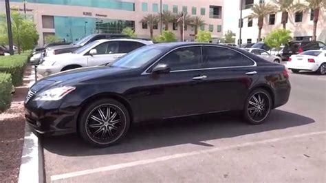 2009 lexus es 350 w custom rims walkaround youtube