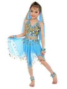 belly dance costumes kids chiffon red sleeveless indian