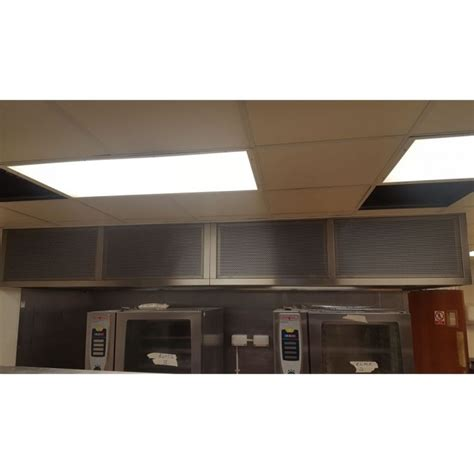 commercial extraction ventilation canopy with lighting