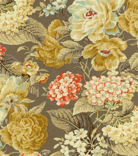 Home Decor Print Fabric Waverly Floral Flourish Clay  Joann