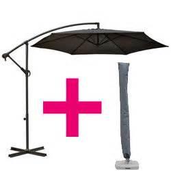 parasol d 233 port 233 guadeloupe 3m gris ardoise avec housse