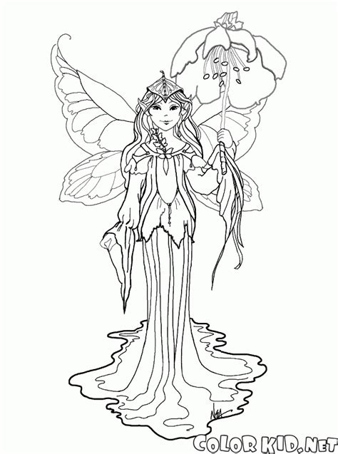 coloring page elves  fairies
