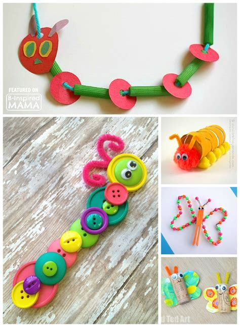 25 caterpillar and butterfly crafts for 265 | 25 Creative and Cute Caterpillar and Butterfly Crafts for Kids Perfect Spring Preschool Themed Crafts at B Inspired Mama