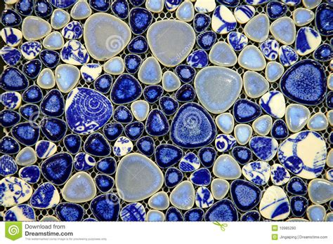blue and white ceramic tile stock photo image 10985280