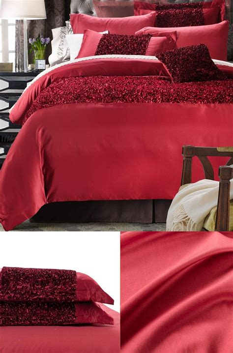 doona cover set red high end bedding twin full queen