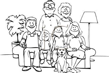 Extended family clipart black and white 6 Clipart Station