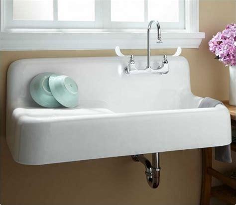 kitchen sinks cast iron cast iron wall hung kitchen sink remodelista 6065