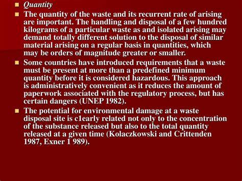 hazardous waste management powerpoint
